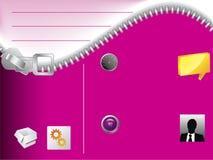 Modello di Web site della chiusura lampo Fotografie Stock