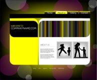 Modello di Web site della famiglia, vettore Immagine Stock