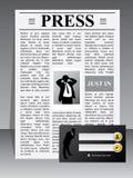 Modello di Web site della stampa economica Fotografie Stock