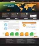 Modello di Web site di affari Immagine Stock Libera da Diritti