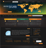 Modello di Web site di affari Fotografia Stock Libera da Diritti
