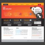 Modello di Web site di affari Immagini Stock Libere da Diritti