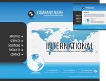 Modello di Web site di affari Fotografie Stock