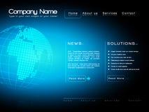 Modello di Web site di affari   Immagine Stock
