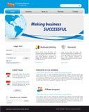 Modello di Web site di affari Fotografia Stock
