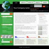Modello di Web site di affari Fotografie Stock Libere da Diritti
