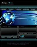 Modello di Web site di affari del bene immobile Immagine Stock Libera da Diritti