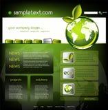 Modello di Web site di ecologia Fotografia Stock