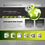 Modello di Web site di ecologia Immagini Stock