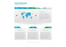 Modello di Web site di Minimalistic Fotografie Stock Libere da Diritti