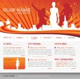 Modello di Web site di musica Immagini Stock Libere da Diritti