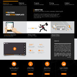 Modello di Web site Illustrazione di vettore Immagini Stock Libere da Diritti