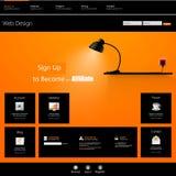 Modello di Web site Illustrazione di vettore Immagine Stock Libera da Diritti