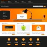Modello di Web site Illustrazione di vettore Fotografie Stock Libere da Diritti