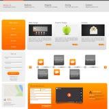 Modello di Web site Illustrazione di vettore Immagine Stock