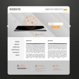 Modello di Web site Illustrazione di vettore Fotografie Stock