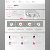 Modello di Web site Illustrazione di vettore Fotografia Stock Libera da Diritti