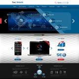Modello di Web site per la presentazione del prodotto Immagine Stock