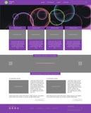 Modello di Web site Stile piano moderno con l'insegna Immagini Stock