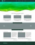 Modello di Web site Stile piano moderno con verde Immagine Stock