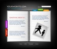 Modello di Web site, vettore Fotografia Stock Libera da Diritti
