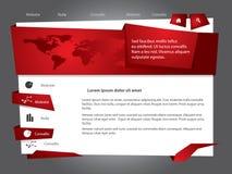 Modello di Webdesign Immagine Stock