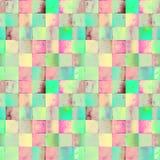 Modello di Wtercolor con i quadrati di pendenza Fotografie Stock