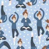 Modello di yoga Immagini Stock