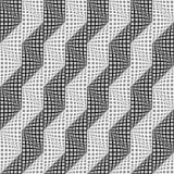 Modello di zigzag deformato senza cuciture di progettazione Fotografia Stock