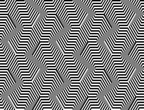 Modello di zigzag monocromatico senza cuciture di progettazione Fotografia Stock Libera da Diritti