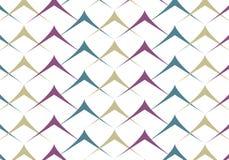 Modello di zigzag popolare Fotografia Stock