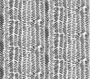 Modello di zigzag strutturato dei colpi grafici disegnati a mano della spazzola Modello dipinto estratto senza cuciture di vettor illustrazione di stock