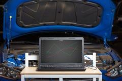 Modello diagnostico dell'automobile fotografia stock libera da diritti