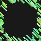 Modello diagonale arrotondato caotico geometrico del fondo della banda - vector la progettazione dalle linee verde illustrazione vettoriale