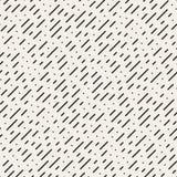 Modello diagonale in bianco e nero senza cuciture della pioggia delle linee tratteggiate di vettore illustrazione di stock