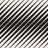 Modello diagonale di semitono in bianco e nero senza cuciture delle bande di vettore Fotografia Stock