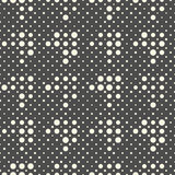 Modello diagonale senza cuciture del pixel Vettore Geometri in bianco e nero Fotografie Stock Libere da Diritti