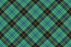 Modello diagonale senza cuciture di struttura del kilt del tartan dell'Irlanda Fotografia Stock