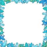 Modello dipinto a mano degli a cristallo dell'acquerello isolato su fondo bianco royalty illustrazione gratis