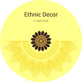 Modello disegnato a mano astratto di ethno, fondo tribale Immagini Stock