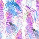 Modello disegnato a mano dello scarabocchio Fotografie Stock Libere da Diritti