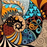 Modello disegnato a mano dello zentangle di ethno, fondo tribale Può essere usato per la carta da parati, la pagina Web, le borse illustrazione di stock