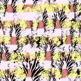 Modello disegnato a mano senza cuciture dell'acquerello Progettazione luminosa per la carta da parati, mattonelle, tessuto, tessu fotografia stock