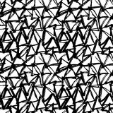 Modello disegnato a mano senza cuciture geometrico astratto Struttura moderna del grunge Fondo dipinto spazzola monocromatica Immagine Stock Libera da Diritti