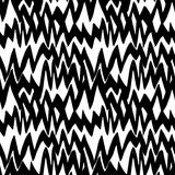 Modello disegnato a mano a strisce con le linee di zigzag Immagine Stock
