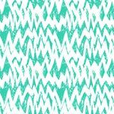 Modello disegnato a mano a strisce con le linee di zigzag Immagine Stock Libera da Diritti