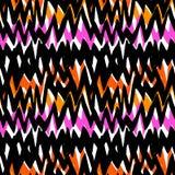 Modello disegnato a mano a strisce con le linee di zigzag Fotografia Stock Libera da Diritti