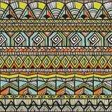 Modello disegnato a mano tribale Fotografia Stock
