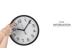 Modello disponibile dell'orologio di parete fotografia stock libera da diritti