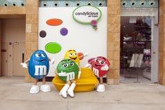 Modello dolce della caramella del M&M Immagini Stock Libere da Diritti
